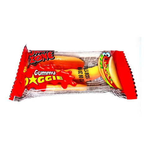 Mini Doggie Hot Dog Gummy Sweet - Novelty Candy Gummi Zone 9g